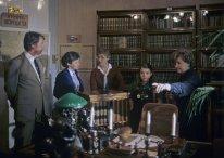 Samantha Smith y sus padres, visitan la oficina de Lenin en el Museo del Kremlin. Foto: RIA Novosti / Yuri Abramochkin.